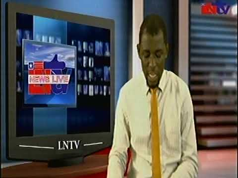 5 minutes of live news on the Liberia National Television. Presenter: Daniel Ankrah