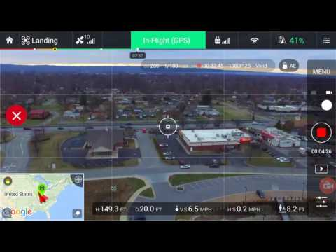 Drone controller view