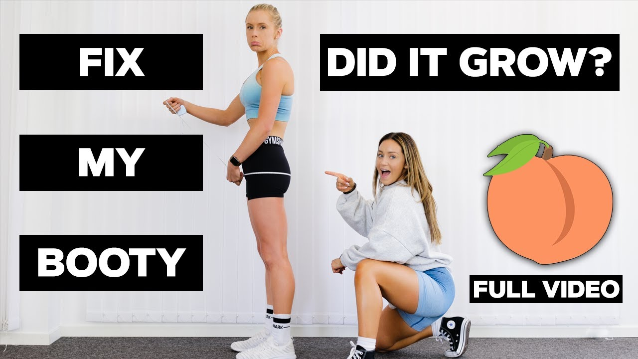 """HOW WE """"FIXED"""" HER PANCAKE BUTT WITH THESE 7 EXERCISES - FULL VIDEO *RAW & REAL*"""