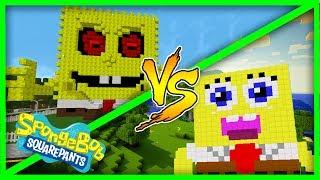 Minecraft House vs House challenge - SONGEBOB EXE VS SPONGEBOB