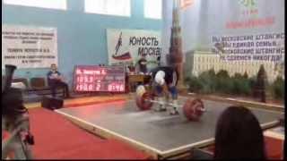 Dmitry Berestov 190kg Snatch + 220kg Clean and Jerk