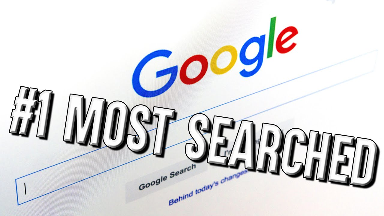 what is the most commonly searched thing on google