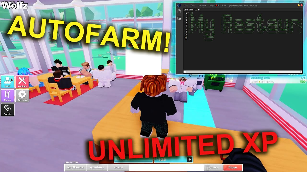 ROBLOX My Restaurant Script/Hack | Unlimited XP and Money *OP*