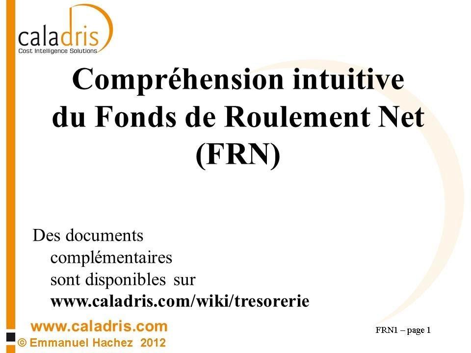 Frn 1 Definition Et Comprehension Intuitive Du Fonds De Roulement