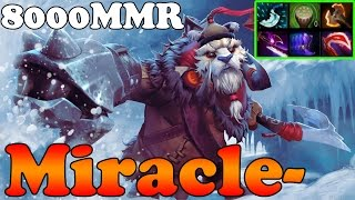 Dota 2 - Miracle- 8000MMR Plays Tusk vol 4 - Ranked Match Gameplay