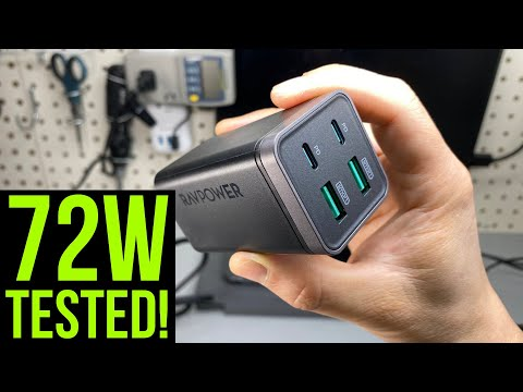 RAVPower 65W 4-Port Charger (GaN Tech. Dual-PD Ports)
