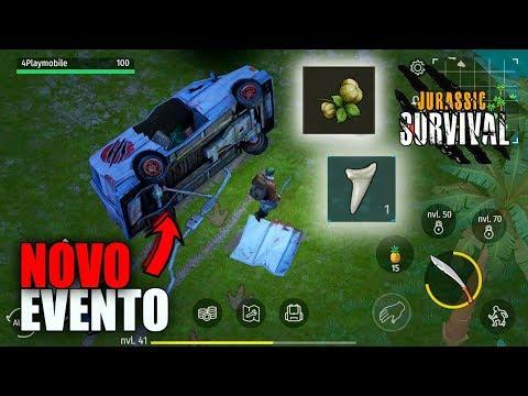 EVENTO DO CARRO DESTRUIDO ACHEI MUITA SEMENTE DE SERINGUEIRA! JURASSIC SURVIVAL
