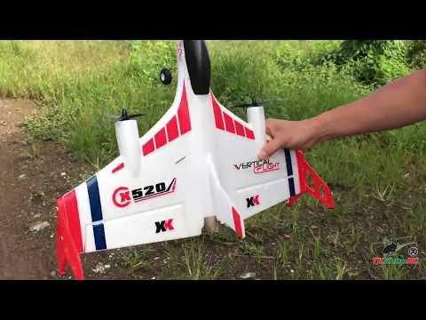 แกะกล่องรีวิวเครื่องบินบังคับ XK X520 บัสเลส,บินขึ้น-ลง แนวดิ่ง,ไจโร 3/6 แกนช่วยบิน By TKShopRC