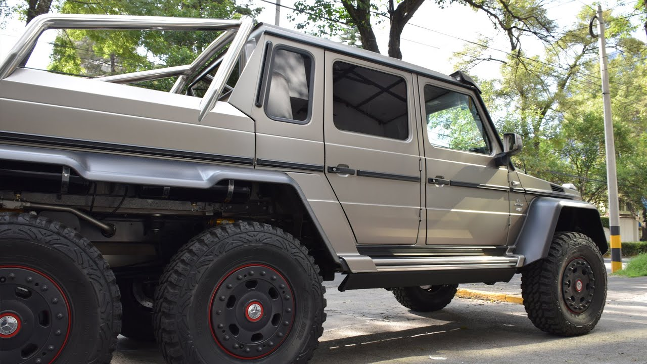 700hp mercedes benz g63 amg 6x6 ciudad de m xico youtube for Camioneta mercedes benz
