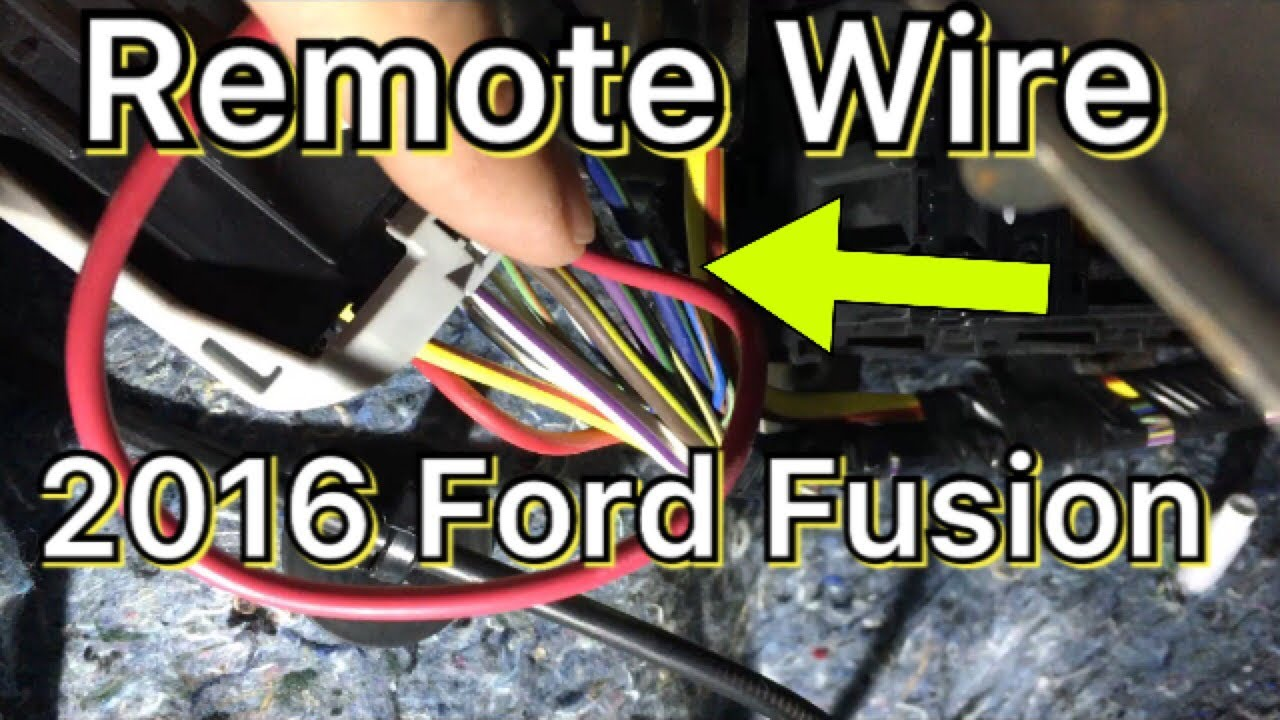 how to hook up remote wire for amplifier - 2013-2017 ford fusion - youtube  youtube