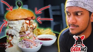 Eat this burger in 10 MINUTES?!? | ManiYa vs Food