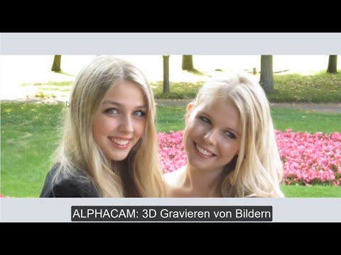 ALPHACAM: Fotos in 3D Gravieren
