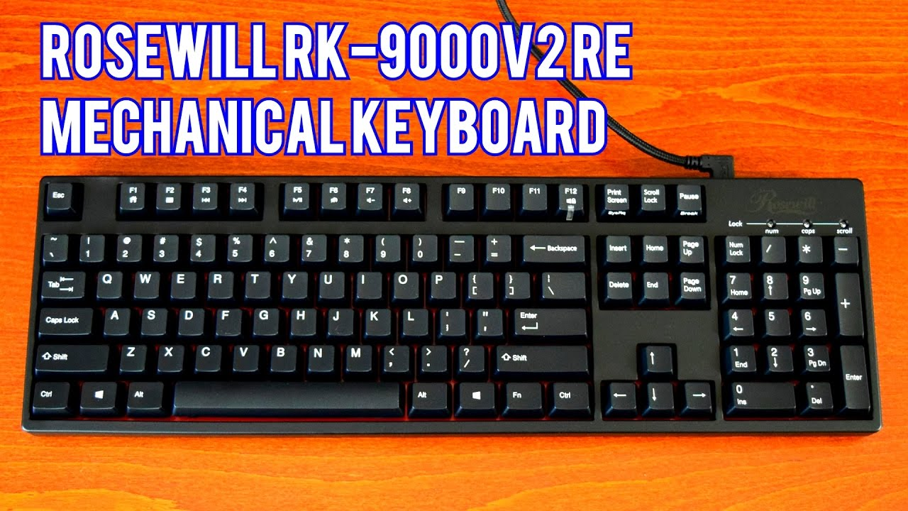 Rosewill Gaming Mechanical Keyboard with Cherry MX Brown Switches RK-9000V2 BR