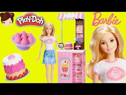Barbie Chef de Pasteleria con Plastilina Play Doh - Juguetes de Barbie en Español