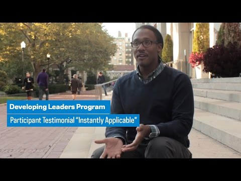 """Developing Leaders Program: Participant Testimonial """"Instantly Applicable"""""""