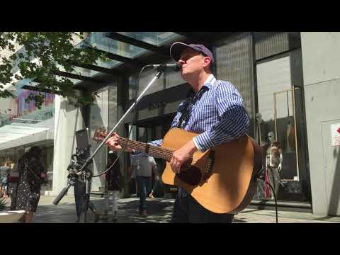 Neil Simpson Busking In Perth