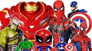 Thanos Gauntlet vs Avengers Go~! Spider Man, Iron Man, Hulk, Captain America, Hulkbuster