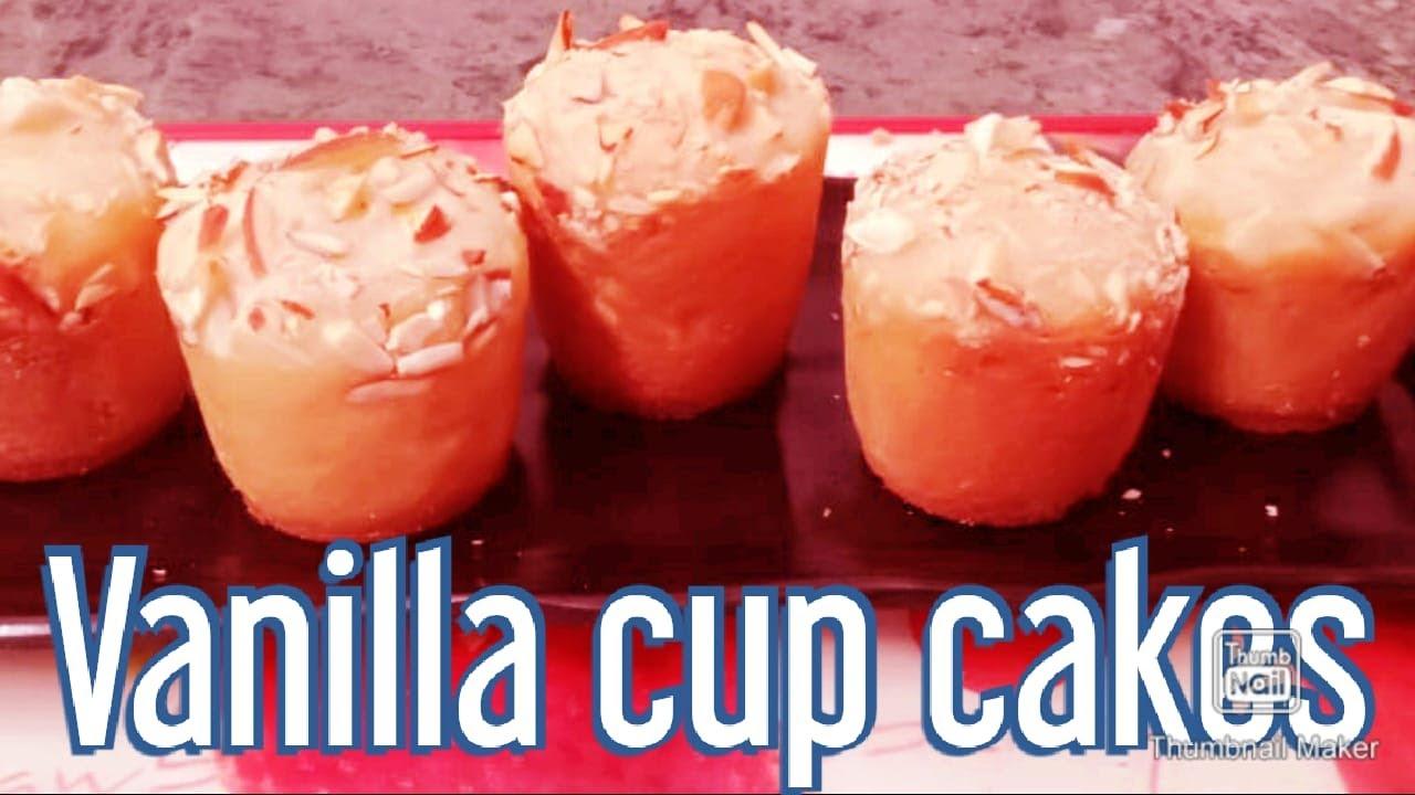 Vanilla cup cakes / Vanilla cup cakes Recipe - YouTube