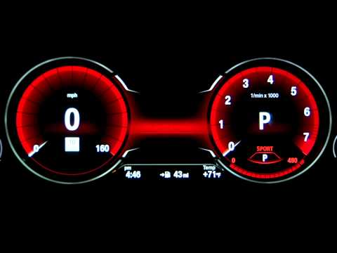 BMW Instrument Cluster Display - Driving Modes