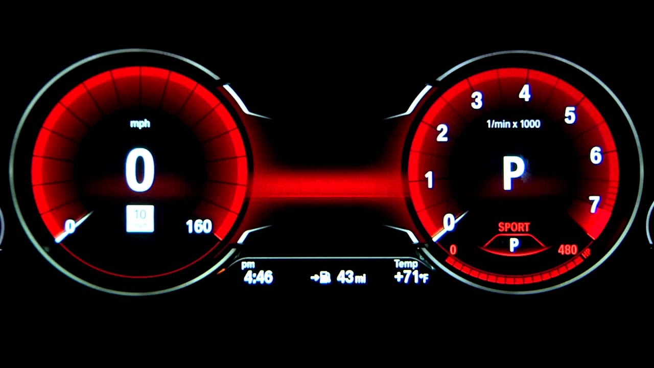 Bmw Instrument Cluster Display Driving Modes Youtube 428i Engine Diagram