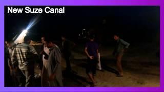 عمال القناة يهتفون تحيا مصر فى ليلة عمل يونيو2015