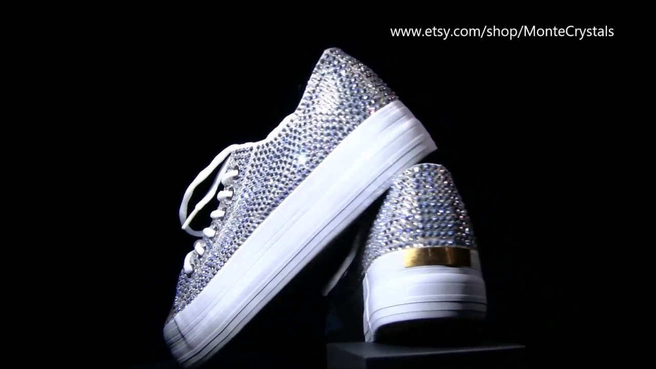 cb4b4f93e569 Sparkly sneakers with crystals Swarovski