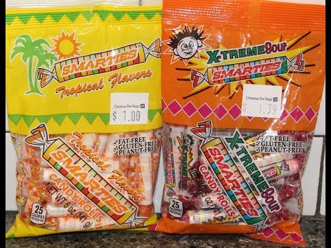 Smarties Candy Rolls: Tropical Flavors And X-Treme Sour Review