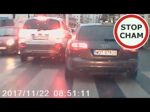 Pokaz chamstwa i agresji na warszawskich ulicach  – zajeżdżanie, hamowanie #70 Wasze Filmy