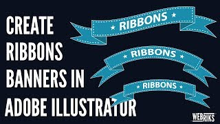 Illustrator Tutorial: How to create a simple ribbons or banners