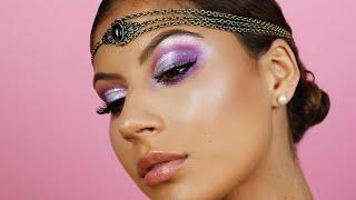 Holographic Purple Cut Crease | BH Cosmetics