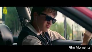 Малыш слушает песню в машине во время ограбления. Малыш на драйве. 2017.