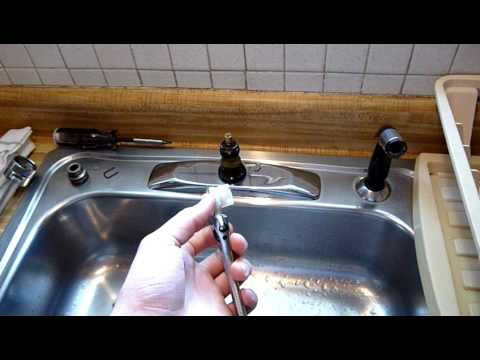 How To: Repair Moen Single Handle Faucet, Pt.1   YouTube