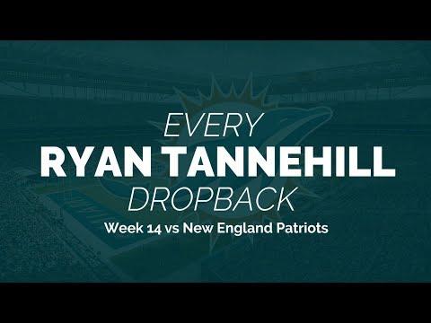 Every Ryan Tannehill Dropback - Week 14 vs New England Patriots