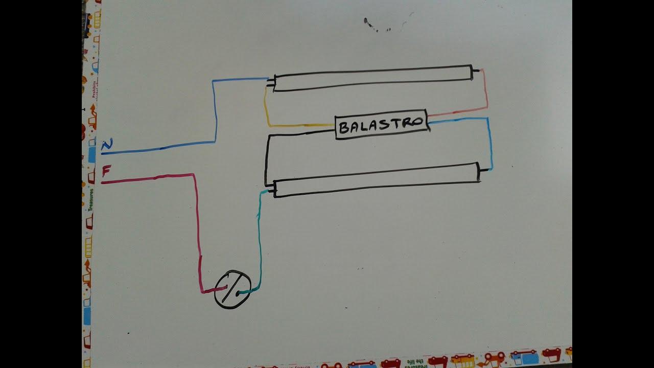 Lampara Fluorescente Controlada Con Un Apagador Sencillo 2