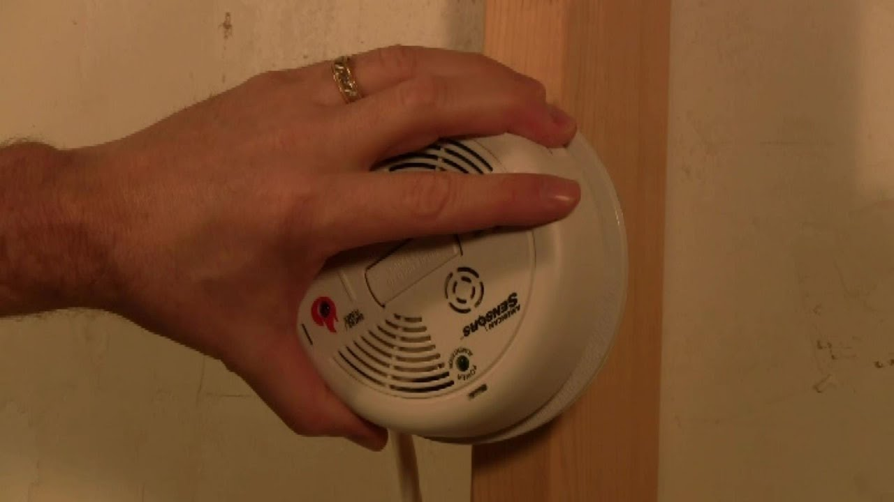 smoke alarm wiring diagram solid matter how to replace cos2010 and co detector youtube