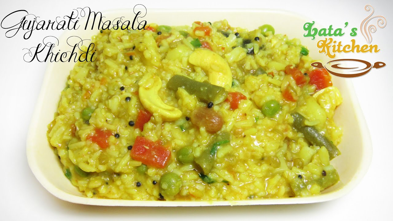Gujarati masala khichdi recipe indian vegetarian recipe video in gujarati masala khichdi recipe indian vegetarian recipe video in hindi latas kitchen youtube forumfinder Images
