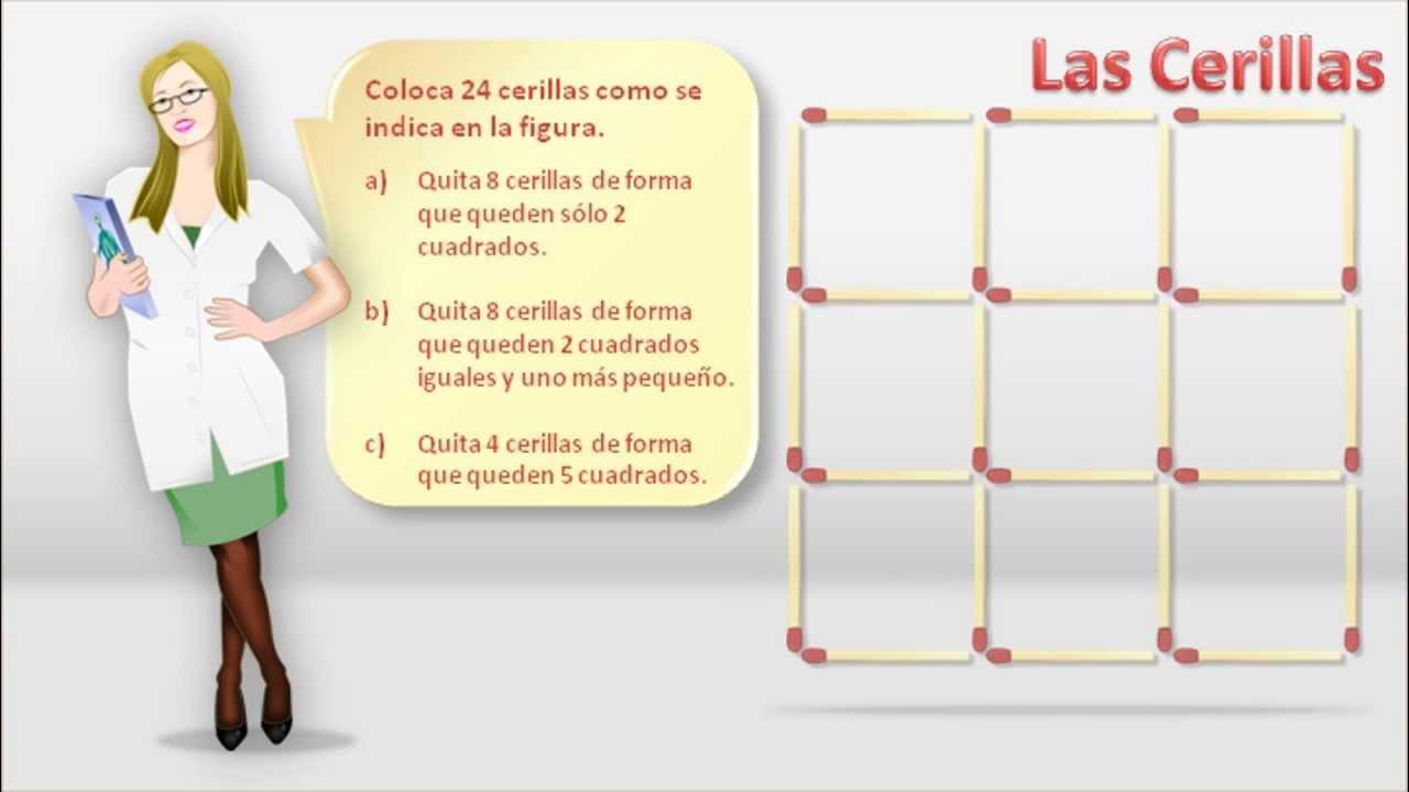 Matemáticas Recreativas. Acertijos - Las Cerillas - YouTube