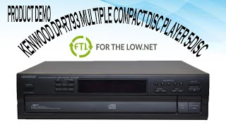 USER MANUAL Operating Instructions Kenwood DP-880SG Compact Disc CD Player