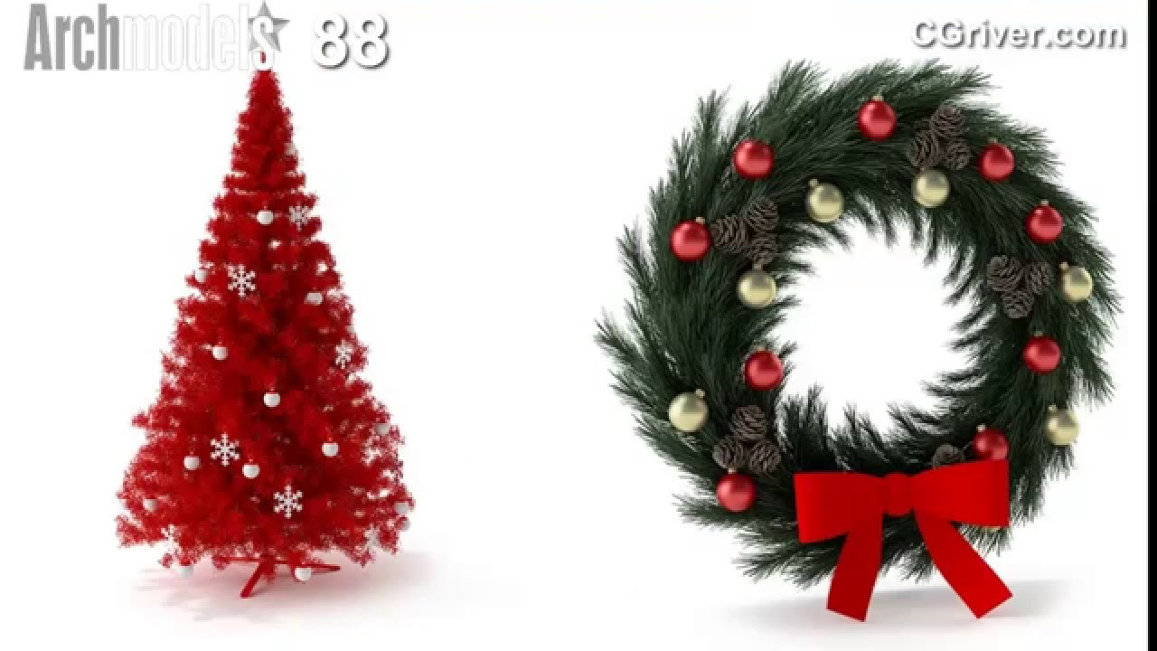 Evermotion Archmodels Vol  159 - Photo-Realistic 3D Christmas Decorations -  CGriver com by CGRiver com Videos