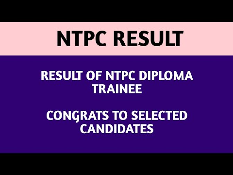 NTPC RESULT ANNOUNCED