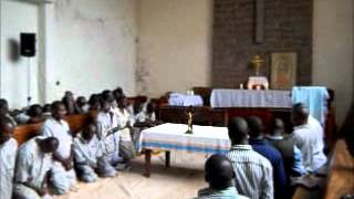 Kenyan Prisoners Praying the Rosary in Eucharistic Adoration