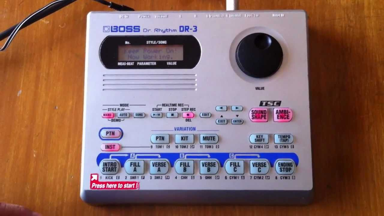 Electronic drums boss dr-550 dr.