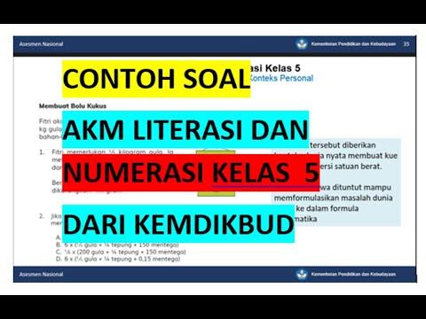 Contoh Soal Akm Literasi Dan Numerasi Kelas 5 Youtube