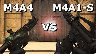 M4A1-S vs M4A4 - Która broń jest LEPSZA? Która ma lepsze SKINY?