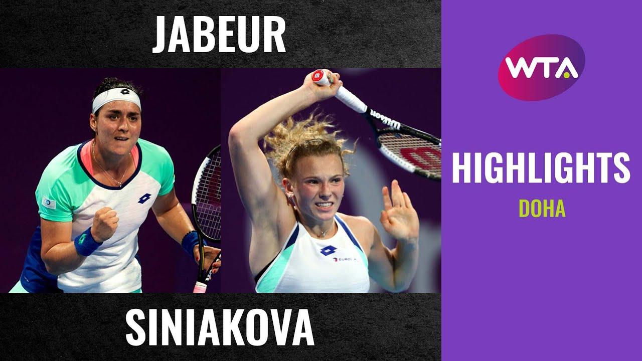 Ons Jabeur vs. Katerina Siniakova | 2020 Doha First Round | WTA Highlights