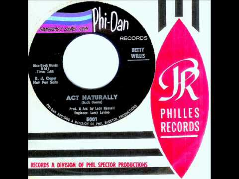 Betty Willis - ACT NATURALLY  (Leon Russell)  (Gold Star Studio)  (1965)