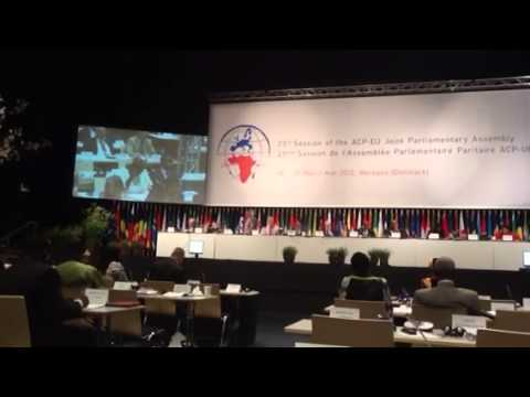 ACP-EU at the ACP-EU JOINT PARLIAMENTARY ASSEMBLY
