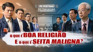 """Filme evangélico """"As mentiras do comunismo"""" Trecho 3 – O que é boa religião e o que é seita maligna?"""
