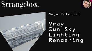 Maya Vray Sun and Sky lighting and rendering