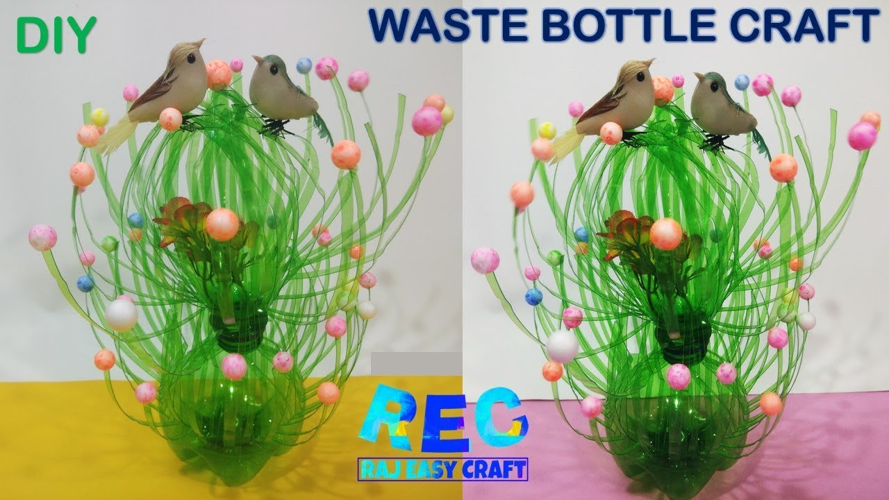 Bottle Craft Plastic Bottle Craft Diy Crafts Youtube
